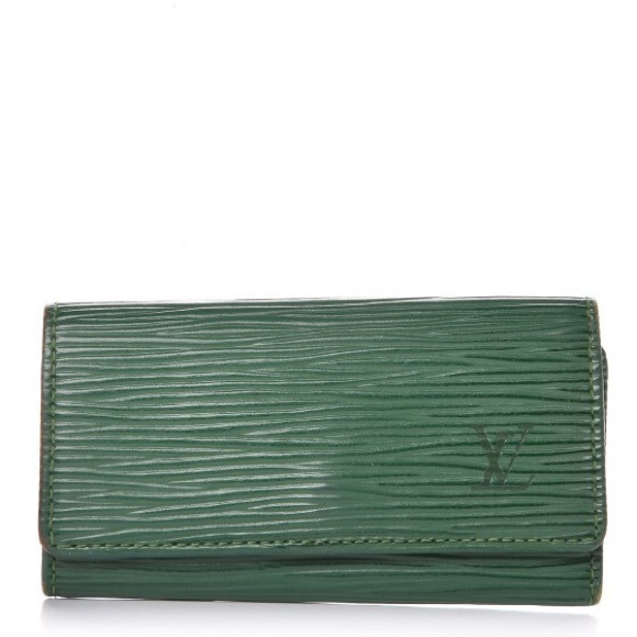 Louis Vuitton Accessories - Louis Vuitton EPI Saffiano Leather 4 ring keycase